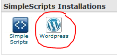 Install WordPress through SimpleScripts