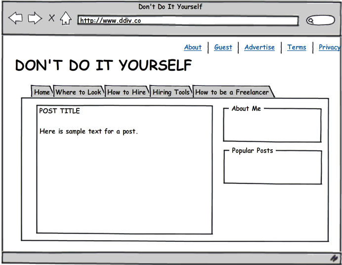 How To Design A Blog: Use A Free Wireframe Tool